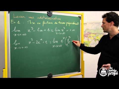 Limites et formes indéterminées - Exercice 1 - Maths terminale - Les Bons Profs