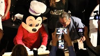 Iron Chef Morimoto & Mickey Mouse create 60-foot sushi, filet huge tuna at Walt Disney World