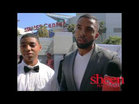 Christian Keyes & Son Interview @ 2016 BET Awards