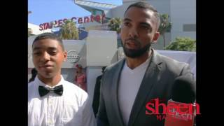 Christian Keyes & Son Interview @ 2016 BET Awards
