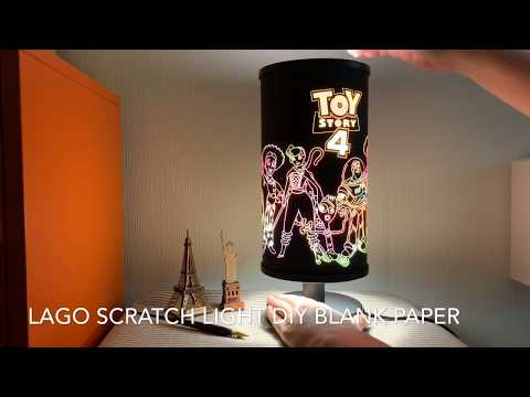 Lago Scratch Light Toy Story4 DIY Lamp with Blank Paper