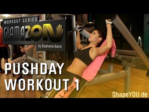 Stephanie Davis - GLAMAZON Pushday - Workout One