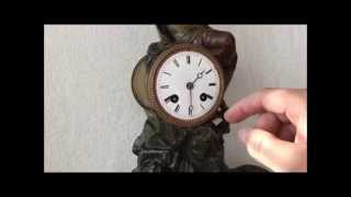 Large Antique Spelter French Mantel Clock (premiers Fruits) For Sale On Ebay