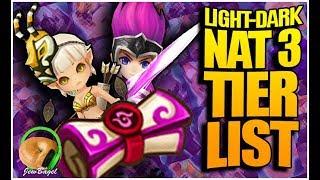 SUMMONERS WAR: Light/Dark Nat-3 Tier List