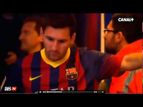 Messi vomit dans le tunnel Barcelona vs Athletic Bilbao 2014
