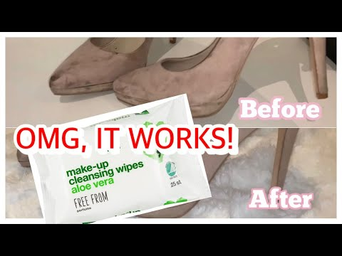 How To Clean Faux Suede Shoes With MAKEUP REMOVER WIPES ?!?! DIY