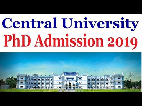 PhD Admission -2019 (Central University)