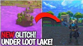 NEW GLITCH! *HOW TO* UNDER LOOT LAKE! UNDER PURPLE LAKE! FORTNITE SEASON 5 GLITCHES!