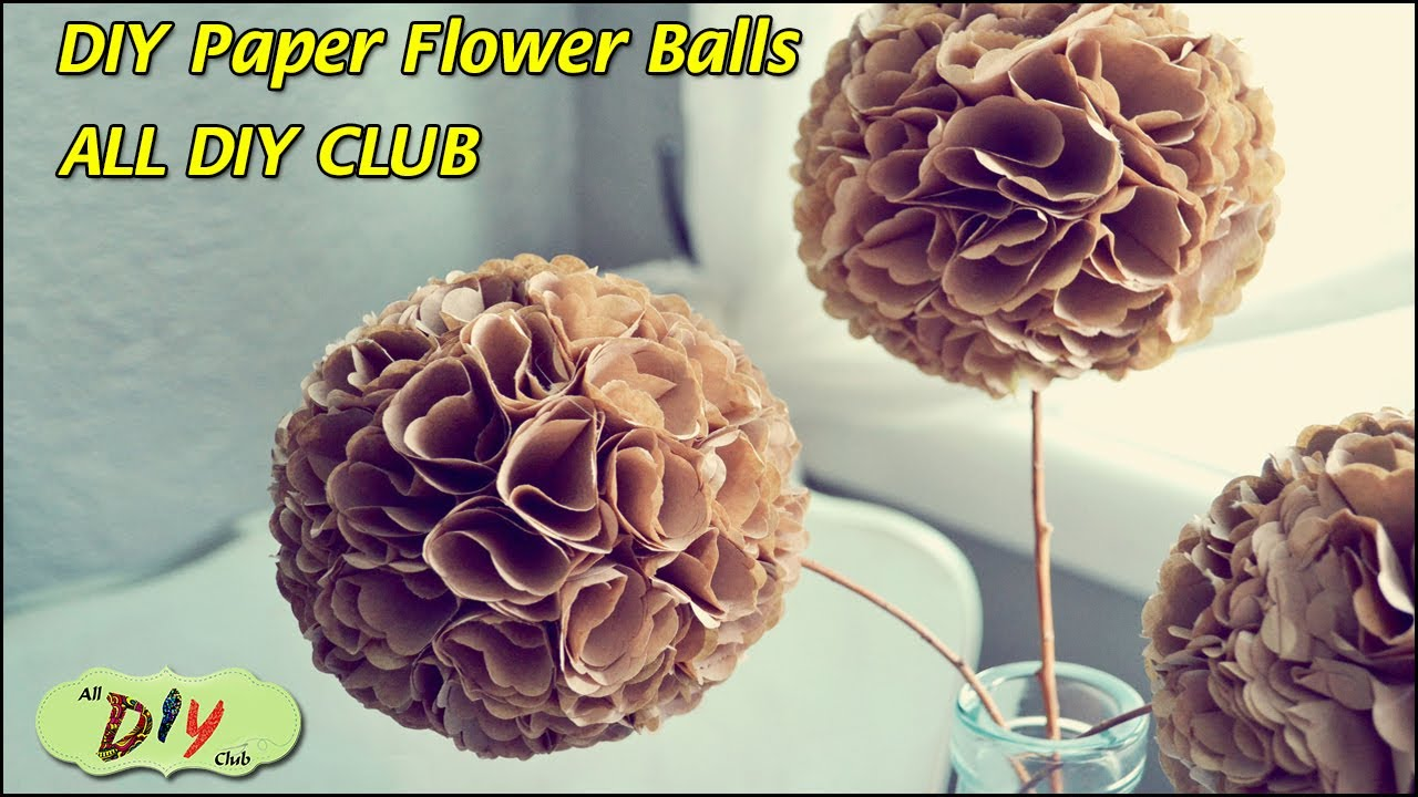 How To Make Pomander Balls Video Paper Flower Balls Christmas Decoration Ideas All Diy Club