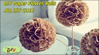 How to Make Pomander Balls Video Paper Flower Balls | Christmas Decoration Ideas | All DIY Club