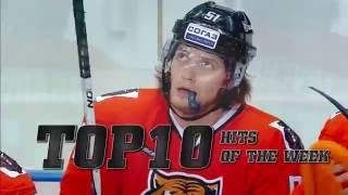 KHL Top 10 Hits of Week 2(10. Gregg Scott (CSK) on Dmitry Ogurtsov (NFK) 9. Evgeny Katichev (VIT) on Vlad Ushenin (AMR) 8. Yakov Rylov (DYN) on Denis Mosalyov (LOK) 7., 2016-09-06T12:40:58.000Z)