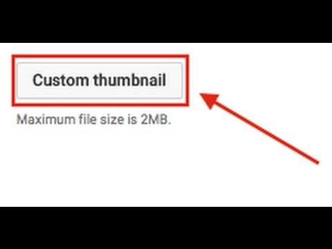 How To Add A Custom Thumbnail On Youtube:Mac