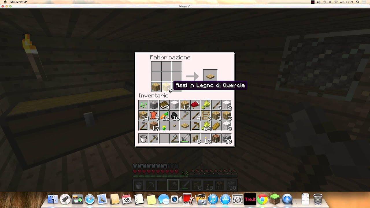 Come creare un Letto e una Staccionata in Minecraft  YouTube