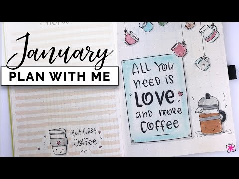 Plan With Me || January 2019 ||  Bullet Journal Setup