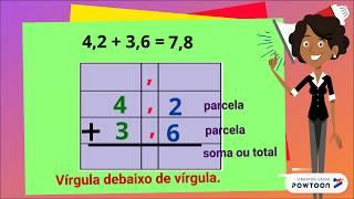 Adicionar e subtrair números decimais