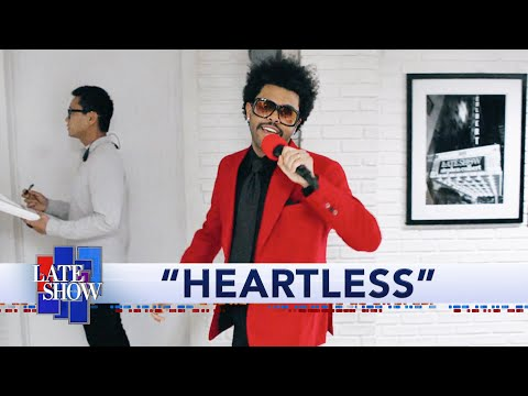 "The Weeknd Performs ""Heartless"" Live at The Colbert Show"