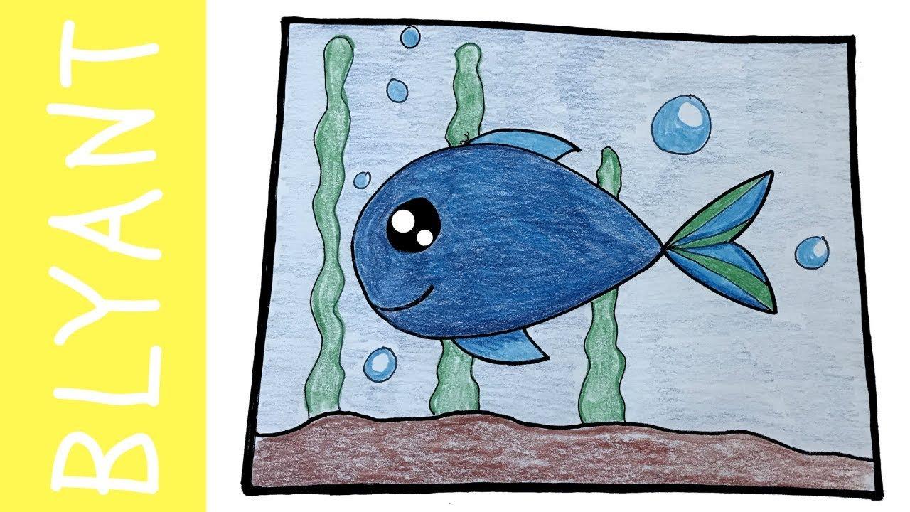 HVORDAN TEGNE EN FISK I ET AKVARIUM