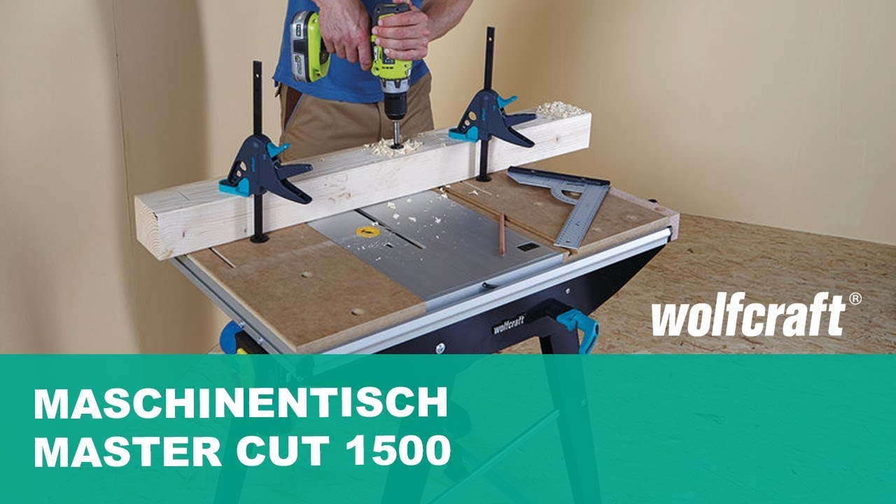 wolfcraft maschinentisch master cut 1500 art nr 6906000. Black Bedroom Furniture Sets. Home Design Ideas