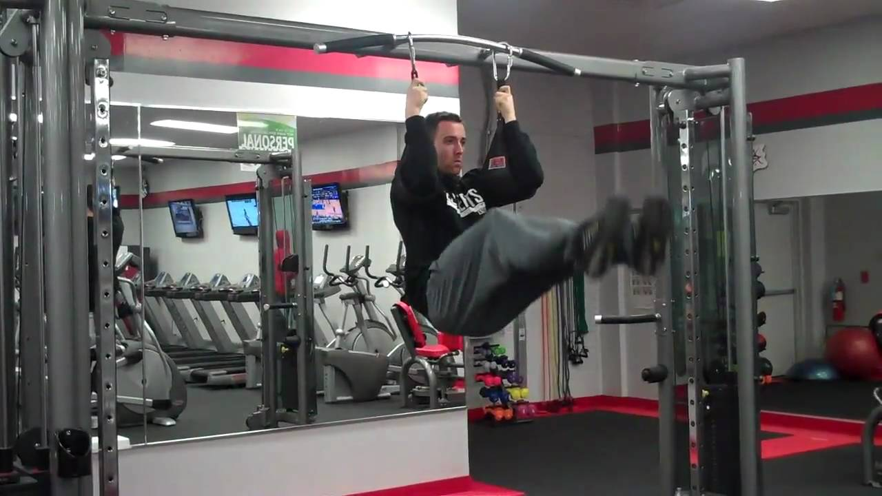 Hanging Leg Raise With Straps Leg Raises (wit...