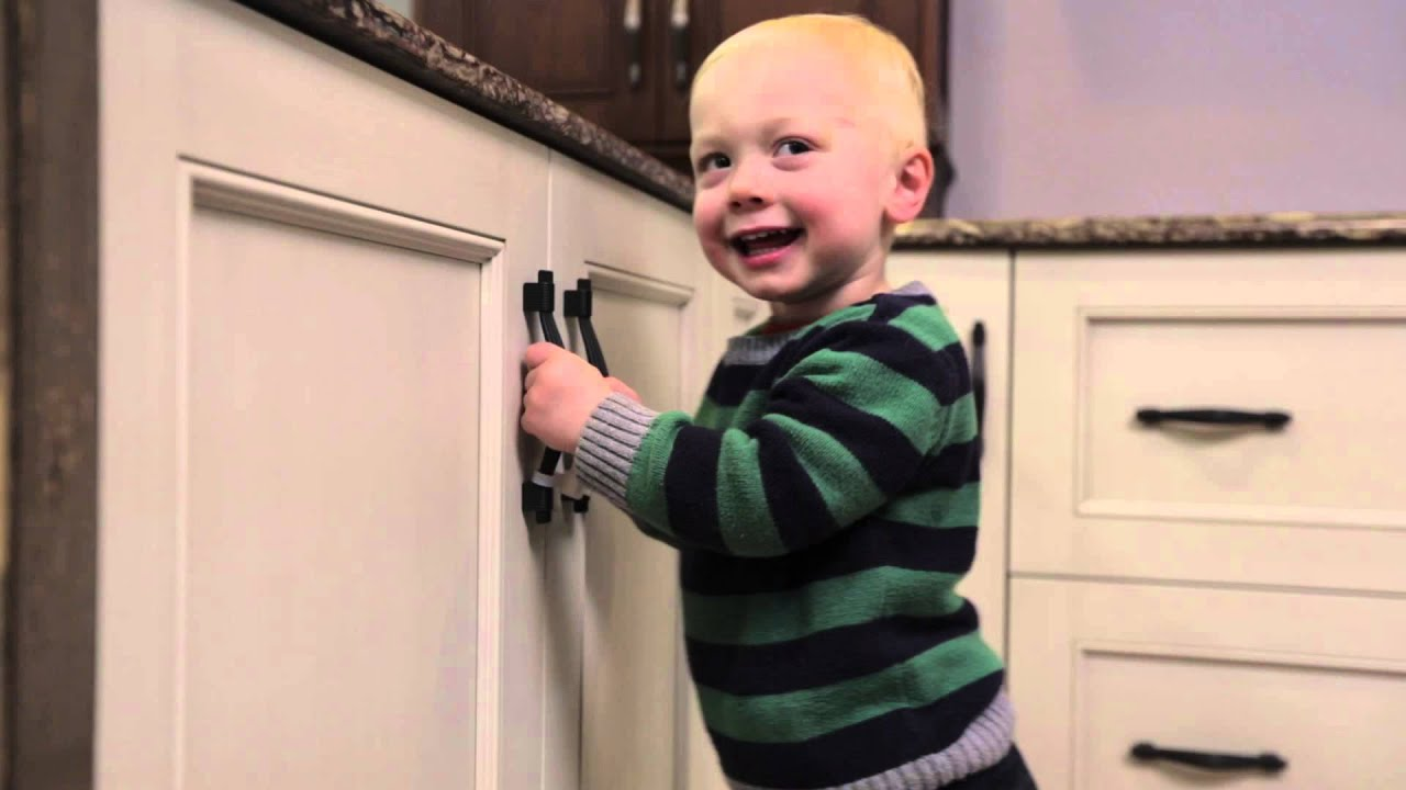 Childproof Cabinet Locks Kiscords Child Proof Cabinet Locks For Handles Really Work Youtube