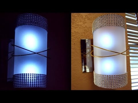 DIY Elegant Frosted Wall Lamps| Lighted Wall Sconces| Dollar Tree DIY Home Decor
