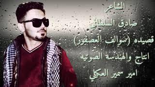 الشاعر صادق السلطاني قصيده (سوالف العصفور ) 2017