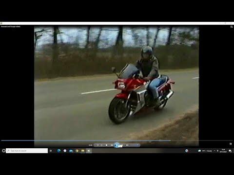 Riding my  Triumph Daytona TT &  Kawasaki GPZ R A. In action.