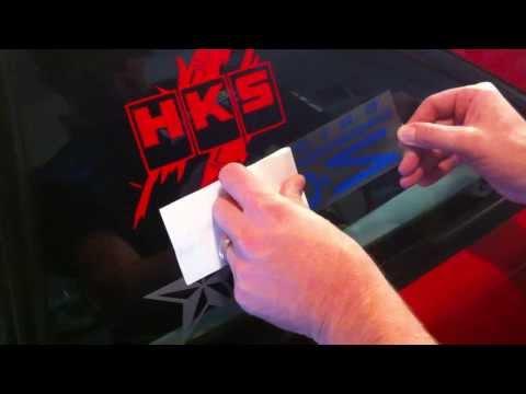 Vinyl Sticker Decal Installation Steps Tips & Tricks Troubleshooting