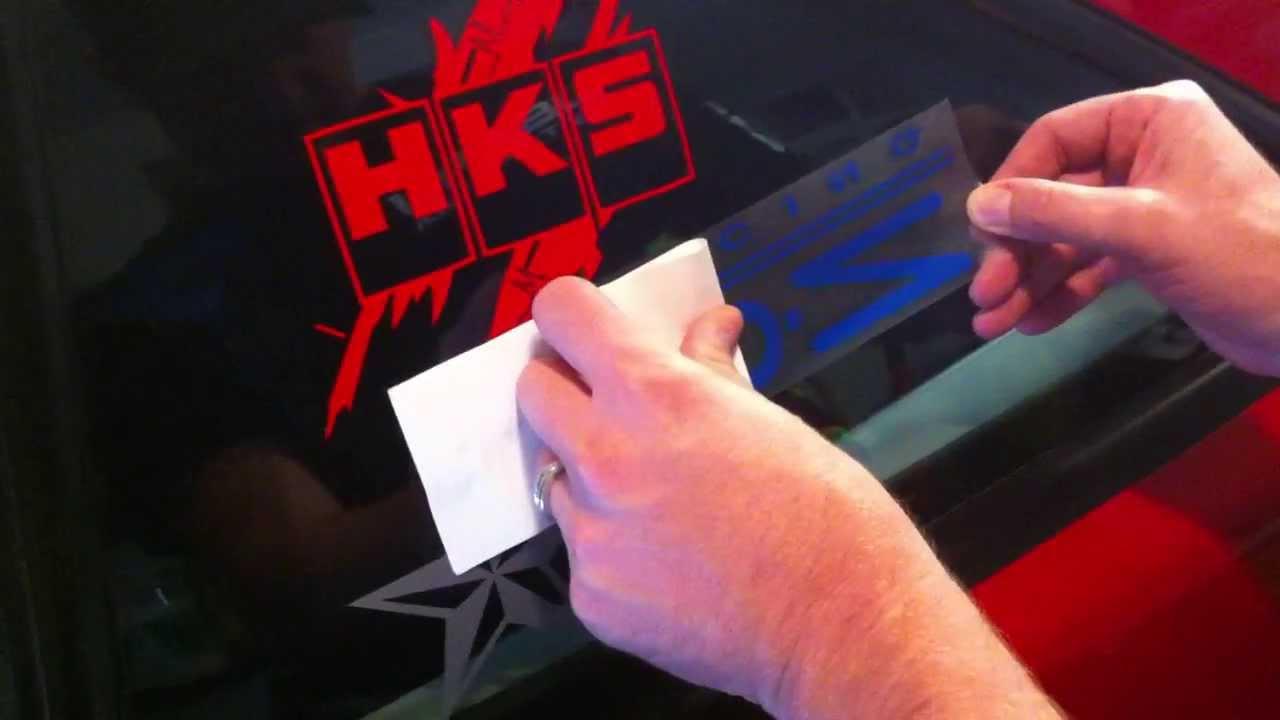 Vinyl Sticker Decal Installation Steps Tips Amp Tricks