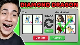 DİAMOND DRAGON TRADE !! NEON SHADOW DRAGON VERDİ Mİ !? ( Roblox Adopt Me )