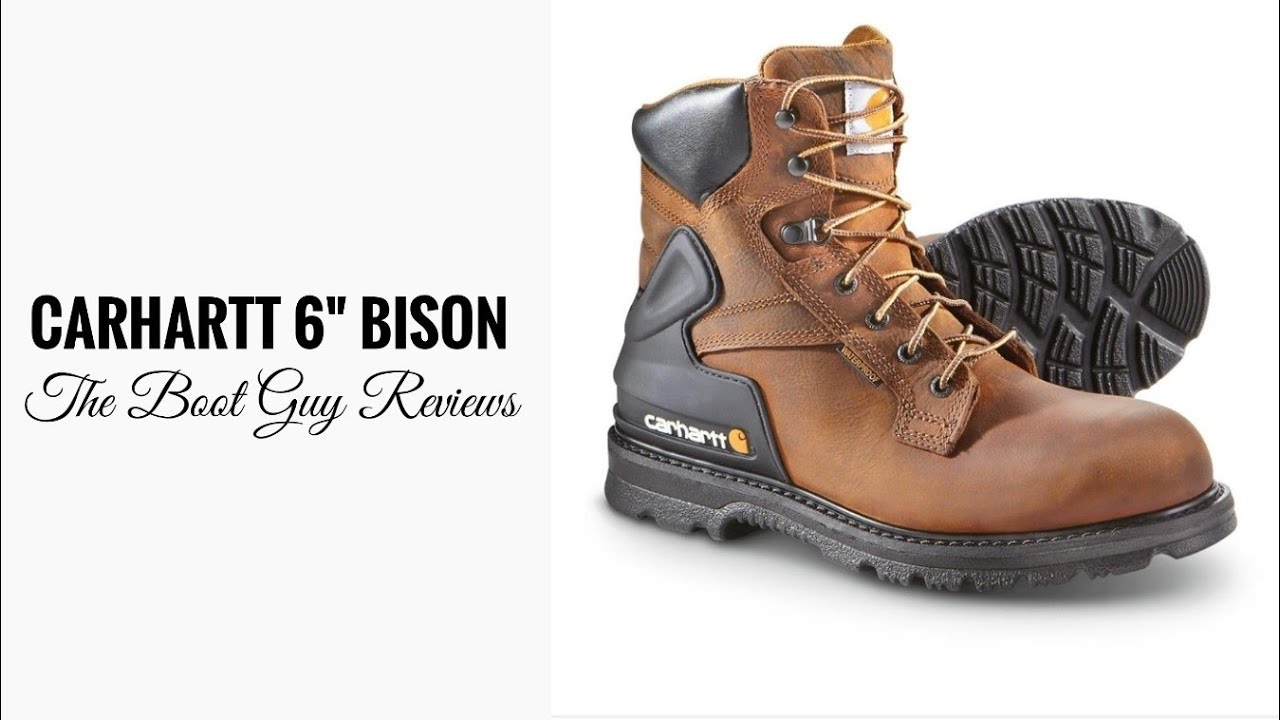 c776831e90c CARHARTT 6-INCH BISON BROWN SAFETY TOE WORK BOOT STYLE #CMW6220 [ The Boot  Guy Review ]