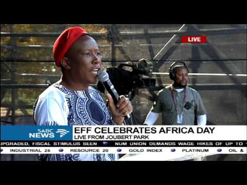 EFF leader delivers his keynote address - Africa Day