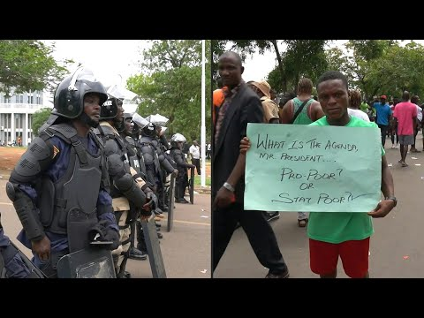 Protests continue in Monrovia amid strong police presence   AFP