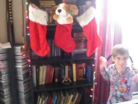 2014 12 25 Michael plays his musical Christmas Stocking
