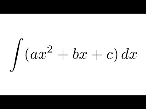 Integral Of Ax^2+bx+c