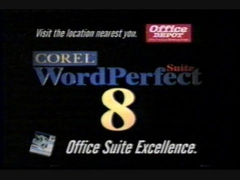 Corel Word Perfect Suite 8 Television Commercial 1997