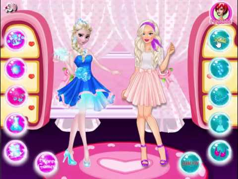 Elsa vs Barbie Fashion Show :: Barbie Dress Up Games :: Frozen ...
