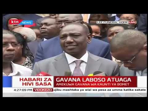 DP Ruto joins top Nation leaders in mourning Bomet Governor Joyce Laboso