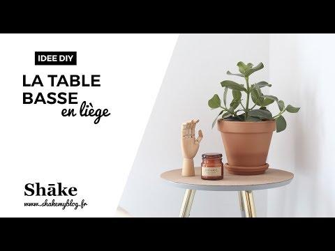 Idée Diy La Table Basse En Liège Youtube