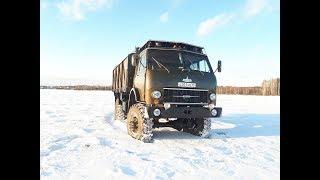 Запуск Маз-509 зимой.Обзор ТЕСТ-ДРАЙВ легендарного грузовика!