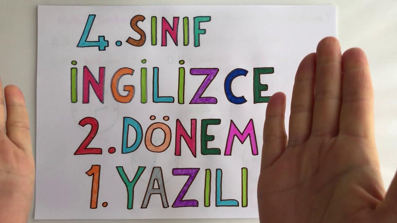 5. Sınıf İngilizce 2. Dönem 1. Yazılı