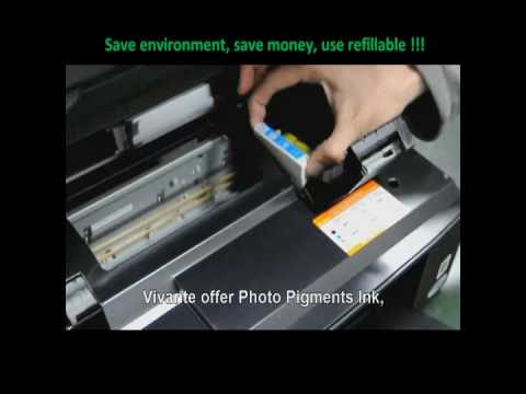 ARC (Auto Reset Chip) refillable ink cartridge instruction