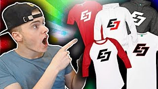 UNBOXING MY OWN MERCH!! (EAVESDROP SPREADSHIRT CUSTOM T-SHIRT UNBOXING AND REVIEW)