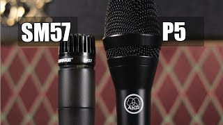 Shure SM57 vs AKG P5 (electric guitar) (pt.1)