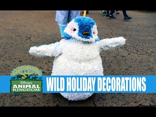 Disney's Animal Kingdom Christmas Holiday Decorations Gray and Gloomy Day