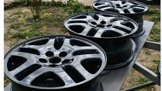 Покраска литых дисков в серый металлик - ( Painting alloy wheels in grey metallic )(, 2015-06-27T22:36:05.000Z)