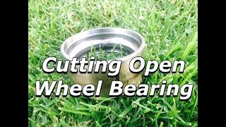 Cutting Open a Wheel Bearing - Causes of Wheel Bearing Spalling National SKF NSK INA Timken