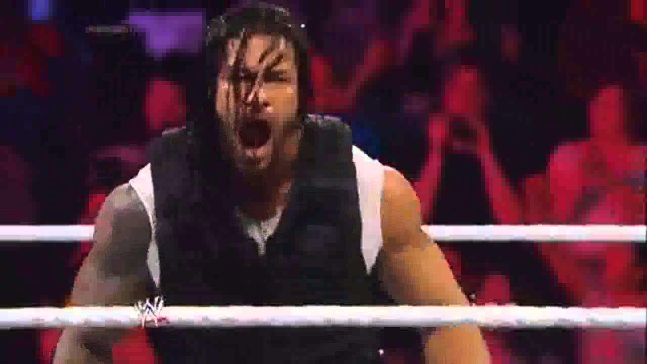 Roman Reigns double spear and superman punch Main Event 19 02 14 ...