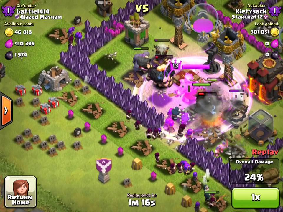 Clash Of Clans - Barbarian King Iron Fist - YouTube