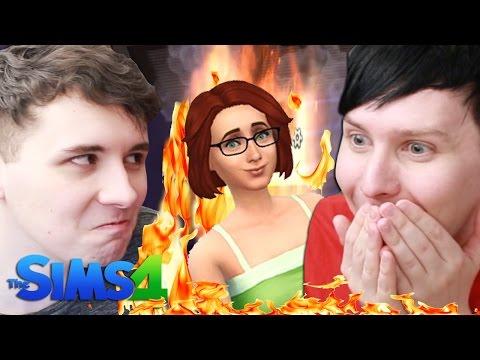 DIL BURNS THE PANCAKES - Dan and Phil Play: Sims 4 #36